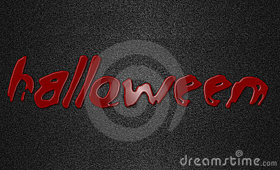 Halloween written in red blood