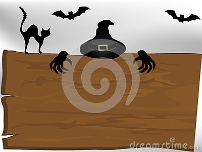 Halloweenowy signboard