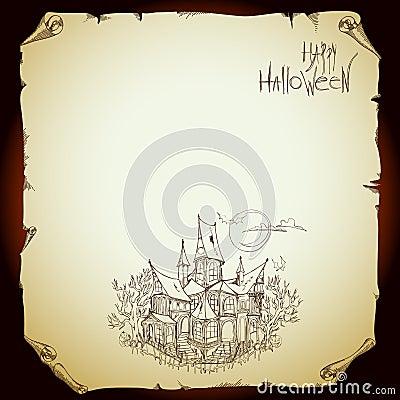 Halloweenowy tło