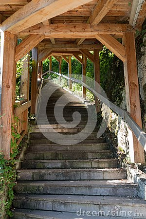 Free HALLSTATT,  SALZKAMMERGUT/AUSTRIA - SEPTEMBER 14 : Steps Leading Stock Images - 101174064