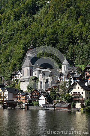 Free HALLSTATT,  SALZKAMMERGUT/AUSTRIA - SEPTEMBER 14 : View Of Halls Royalty Free Stock Images - 101164969