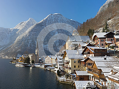 Hallstatt in winter