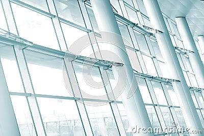 Hallway of airport