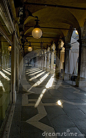 Hallway architecture grand canal venice italy