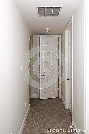 Hallway with doors
