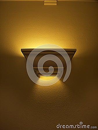 Hallway light illuminated