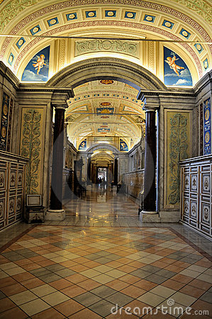 Hallway in the Vatican Museum Editorial Photo