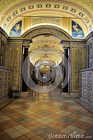 Hallway in the Vatican Museum Editorial Photo