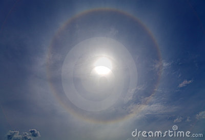 Halo around of the sun