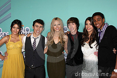 Halston, Lulu, Max Schneider, Halston Sage, Samantha Boscarino Editorial Stock Photo