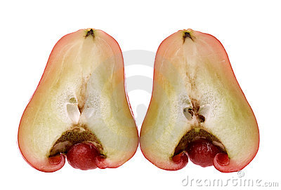 Halved apple guava
