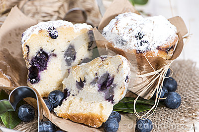 Halved Blueberry Muffin