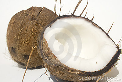 Halved coconut shell