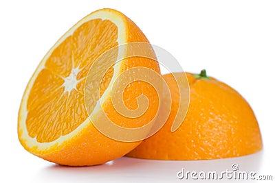 Halved orange