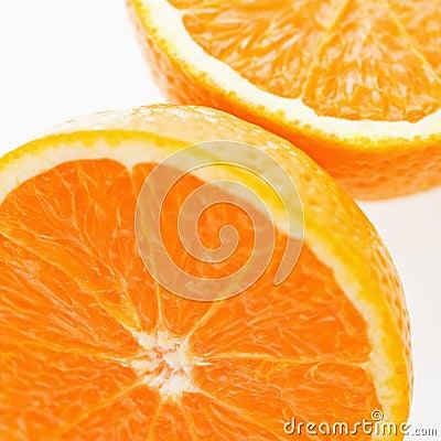 Halved orange.