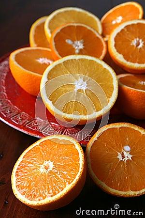Halved oranges