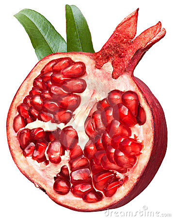 Free Halved Pomegranate Fruit Stock Photos - 17282303