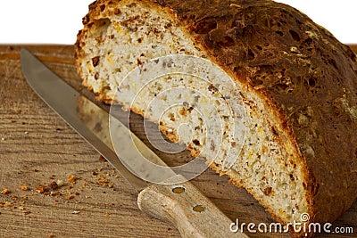 Halves of bread