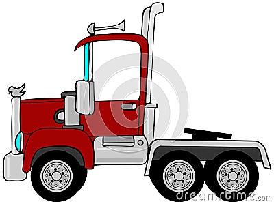 Halvt åka lastbil caben