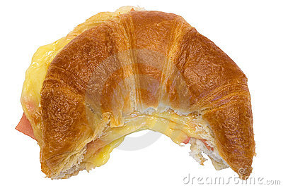 Ham and Cheese Croissant w/ Path (Top View)