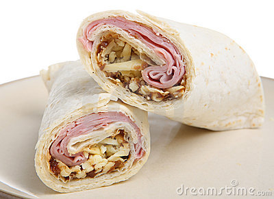 Ham, Cheese & Pickle Wrap
