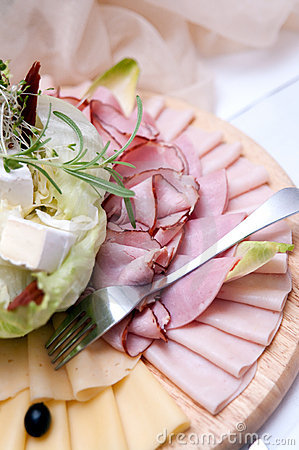Ham and cheese plate