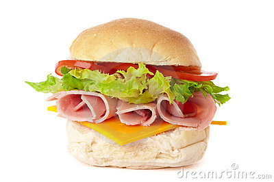 Ham & Cheese Salad Roll