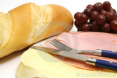 Ham & cheese snack