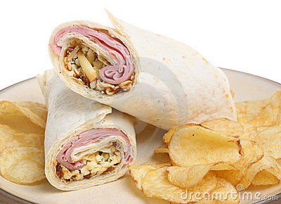 Ham & Cheese Wrap with Crisps