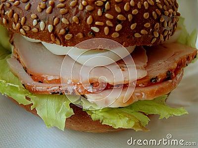 Ham en eierensandwich