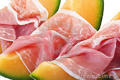 Ham and melon