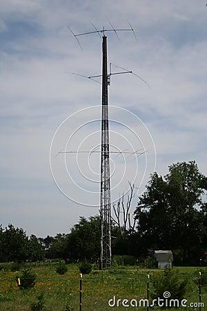 Free Ham Radio Tower Stock Photography - 42228542