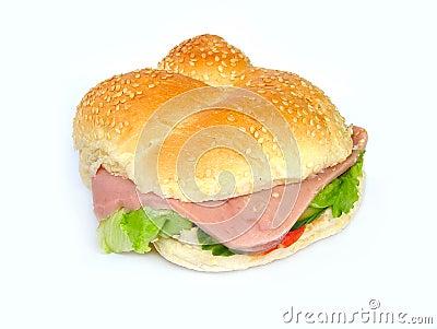 Ham salad roll
