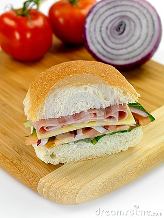 Ham and Salad Roll
