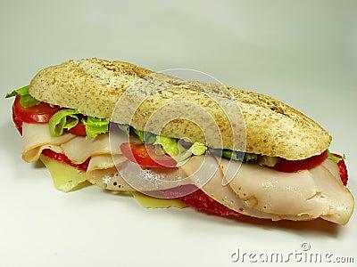 Ham and salami sandwich