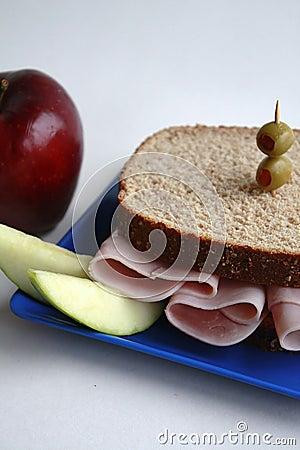 Ham Sandwich on Whole Wheat