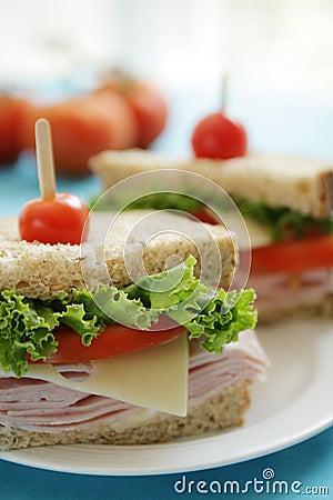 Free Ham Sandwiches Stock Photos - 10769523