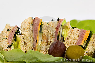 Ham Sandwiches Royalty Free Stock Photo - Image: 2456935