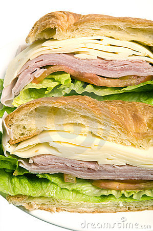 ham swiss cheese sandwich croissant bread