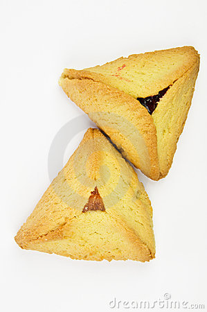 Free Hamantashen Pastries With Apricot And Raspberry Royalty Free Stock Images - 8335029