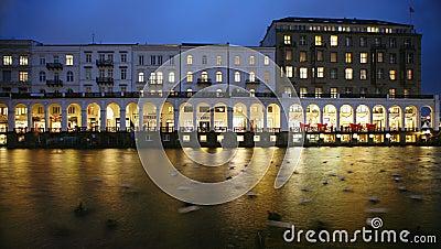 Hamburg arcades