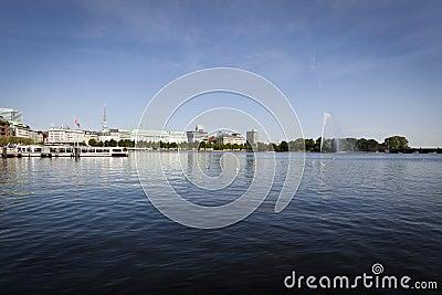 Hamburg, Binnenalster Lake