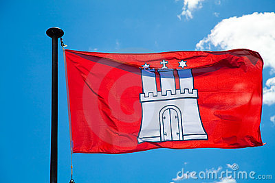 Hamburg City Flag