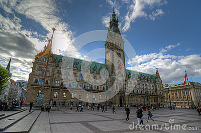 Hamburg City Hall Editorial Image