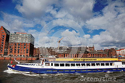 Hamburg and the Elbe Editorial Image