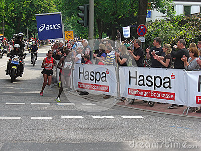 Hamburg Marathon Editorial Photo