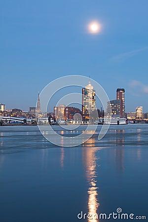 Hamburg Hafencity in the evening Editorial Image