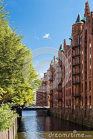 Hamburg landmark Speicherstadt
