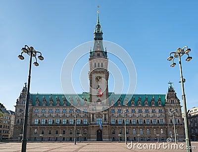 Hamburg landmark town hall