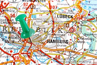 Hamburg on map